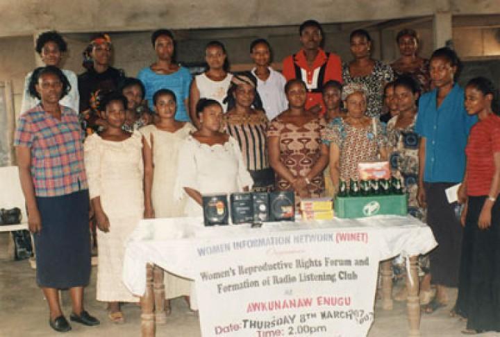 Radio listening Club members at Awkunanaw, Enugu State, Nigeria