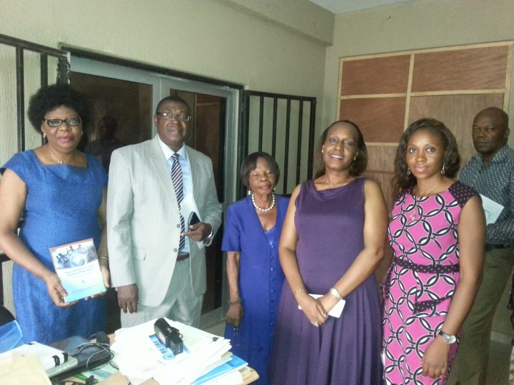 Some WANEP Enugu members on Peace Education advocacy visit to Enugu State Commissioner for Eductation, Professor Okoro