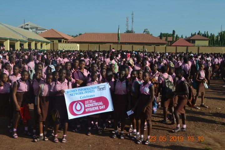 WINET celebration of 2019 Menstral Hygiene Day Girls High School Uwani Enugu, Enugu State, Nigeria