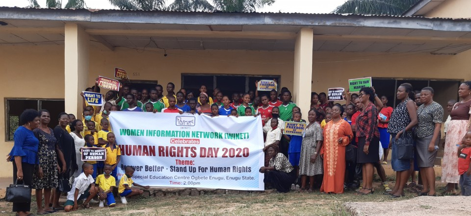 Human Rights Day 10th Decemebr 2020 celebration at Special Education Centre Ogbete