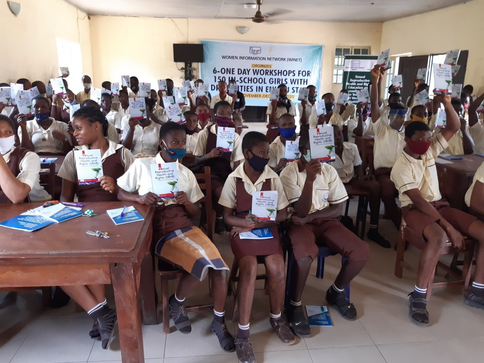 SRHR Training for students of Special Education Centre Ogbete